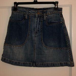 Blank NYC Studded Denim Skirt Size 24